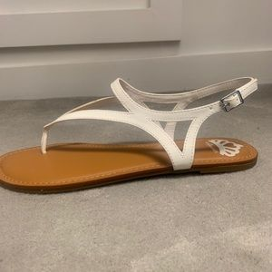 LIKE NEW NEVER WORN strappy white sandals